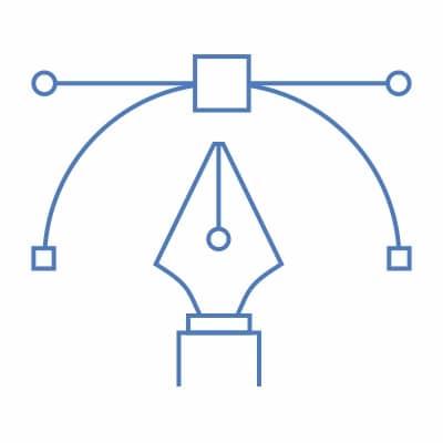 Vector graphic of digital art pen tool