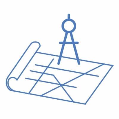 Vector graphic of blueprint sketch