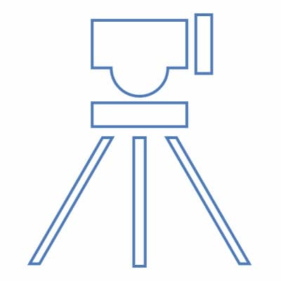 Vector graphic of surveying equipment