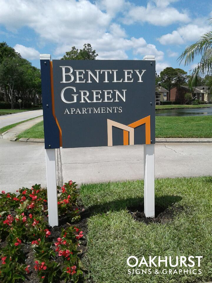 Bentley Green Apartments Pole Sign