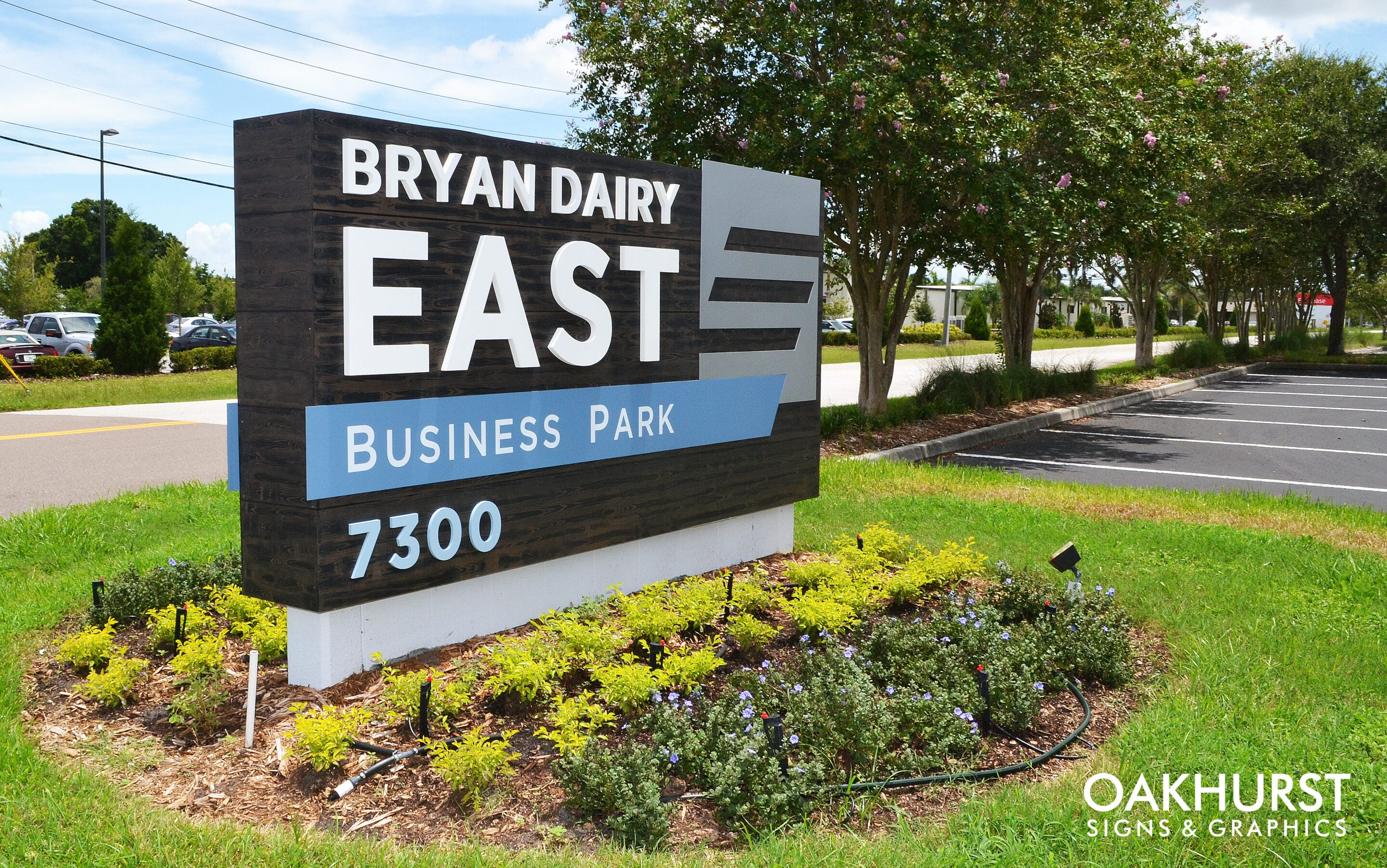 Bryan Dairy East Monument Sign seen from the front