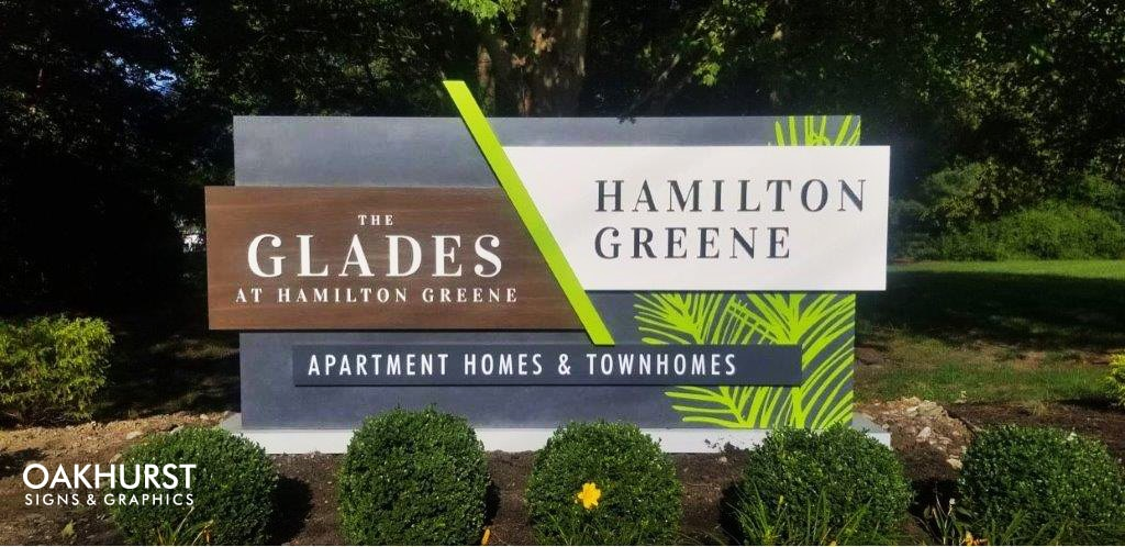 Hamilton Green Apartments Monument Sign