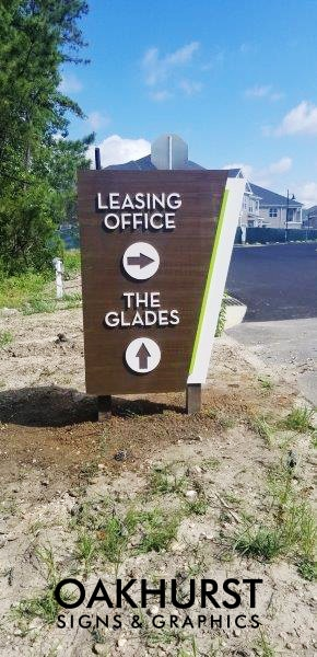 Leasing office sign at Hamilton Greene