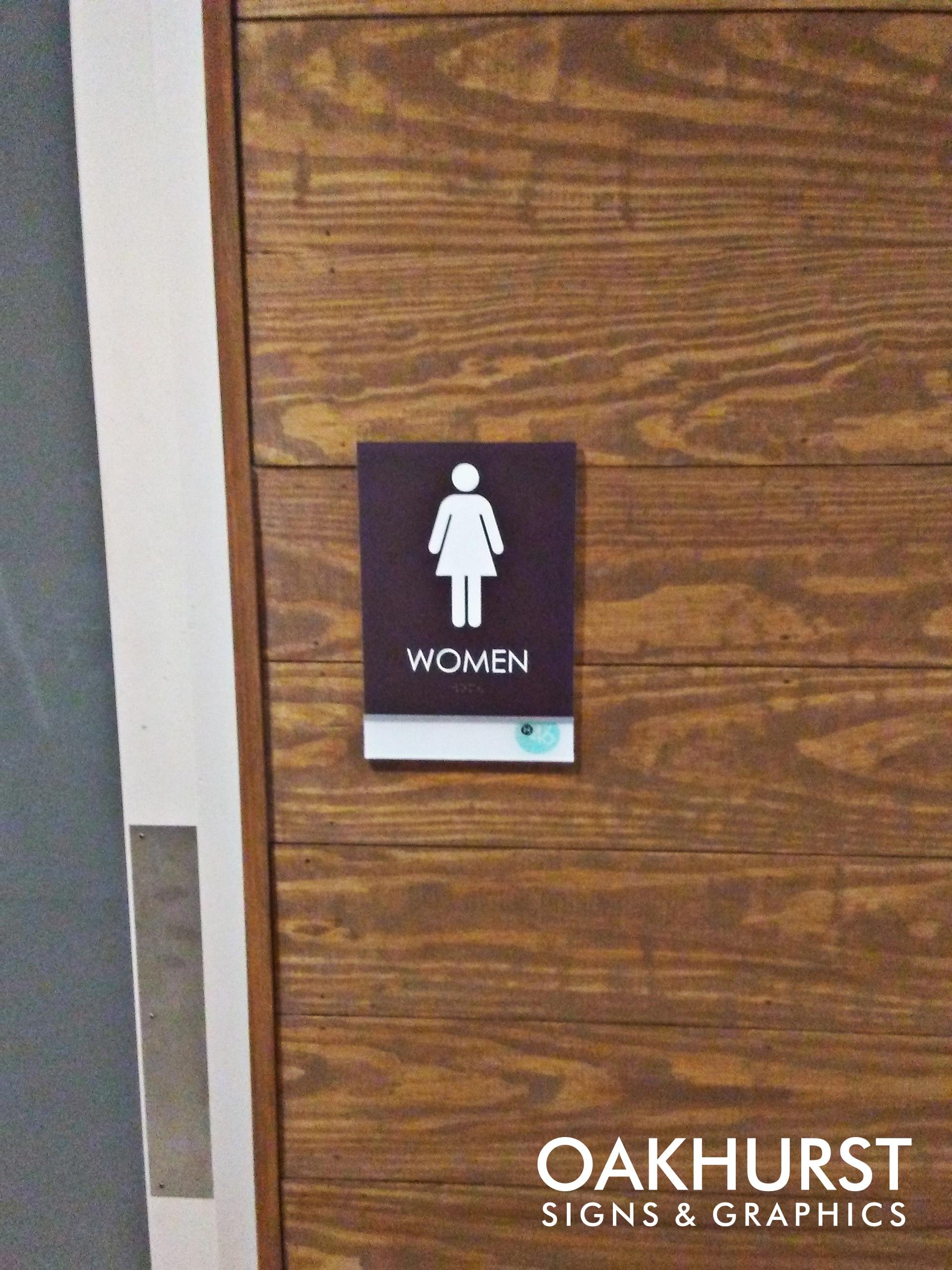 Haven 46 Bathroom sign for women's room