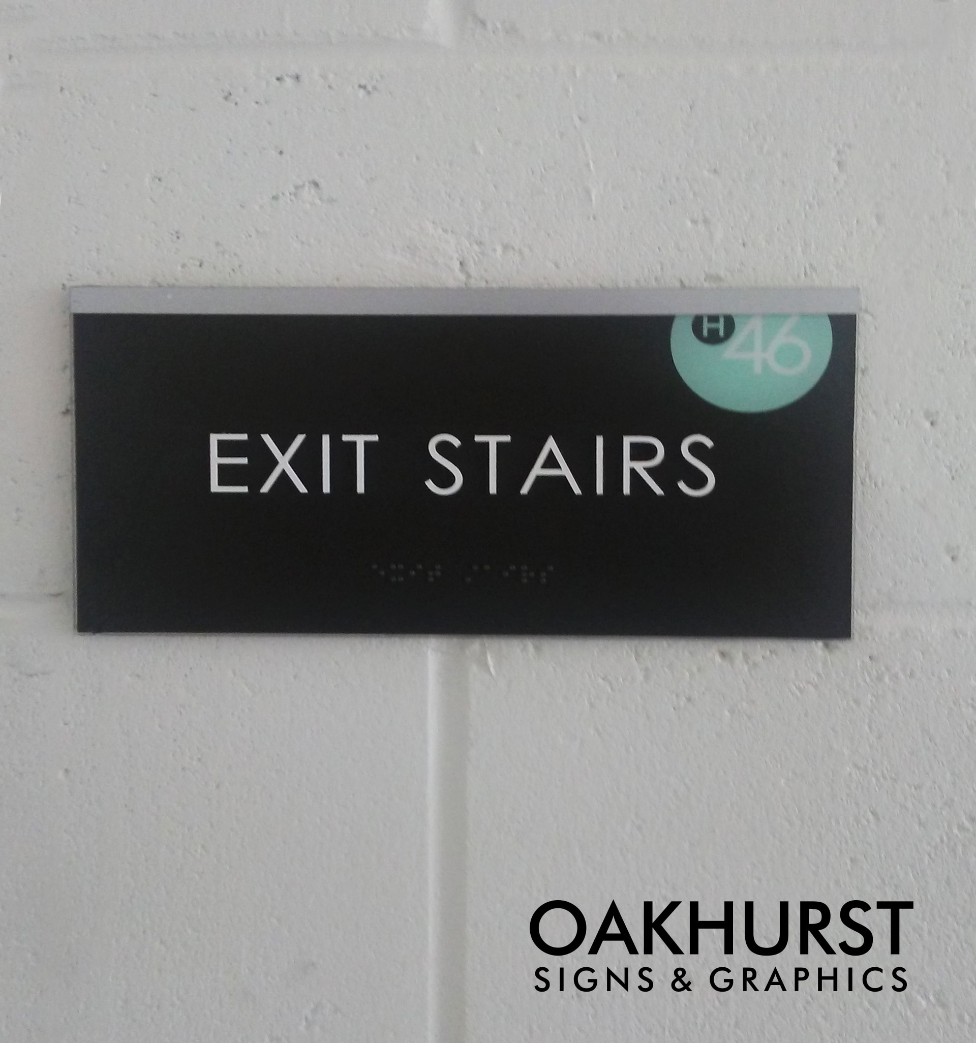 Haven 46 Exit Stairs Wayfinding Sign