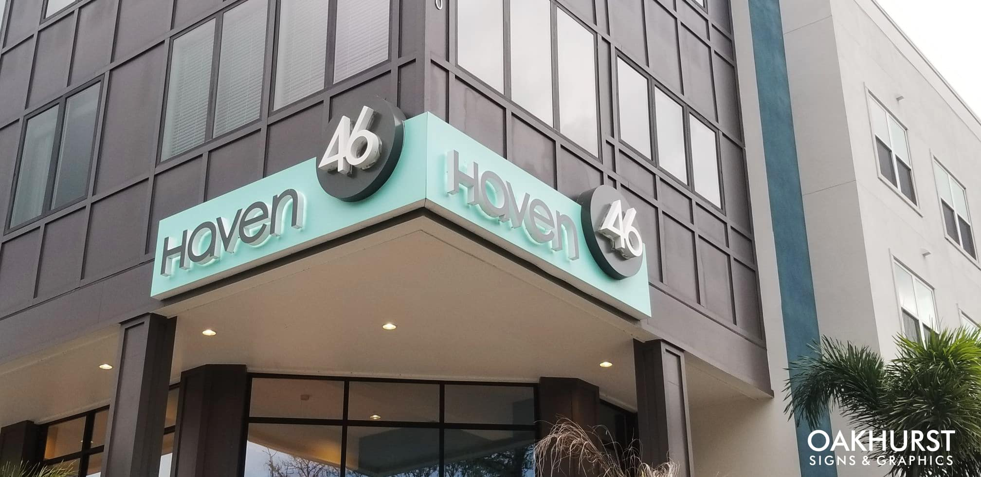 Haven 46 sign on building