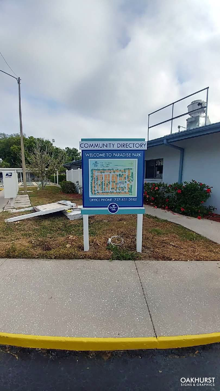Paradise park directory sign