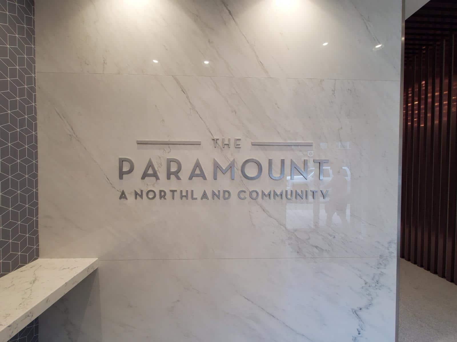 Paramount interior signage