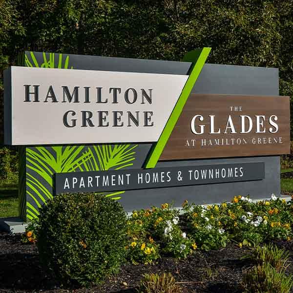 Hamilton Greene Apartment Homes Signage
