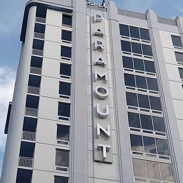 Paramount Apartment Signage