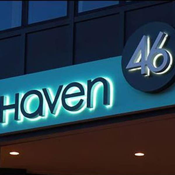 Haven 46 Student Housing Signage